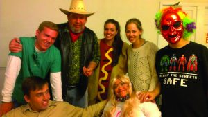 Students and their buddies dress up for a Halloween party. PHOTO COURTESY OF CARA CALLAHAN