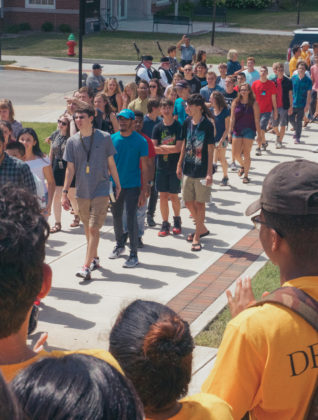 DePauw students walk in first year processional