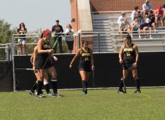 DePauw Women's field hockey play Denison on 9/09