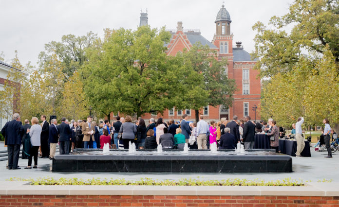 RGB-James G. Stewart Plaza dedication took place on Thursday evening as part of Old Gold weekendNATALIE BRUNINI-THE DEPAUW