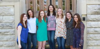DePauw's Panhellenic Executive Team